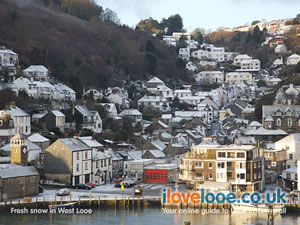 Fresh snow in West Looe