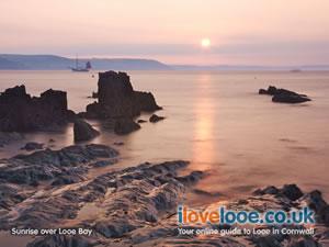 Sunrise over Looe Bay