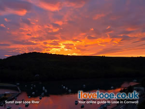 Sunset over Looe River