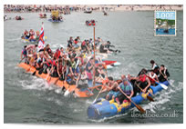 Looe Raft Race postcard
