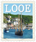 Looe postcard stamp