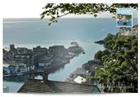 Looe River Banjo Pier postcard