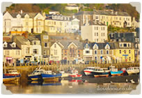 West Looe in the morning sun